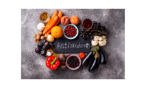 Picture of examples of antioxidants. Dialysis Dietitian. Healthy life on dialysis.