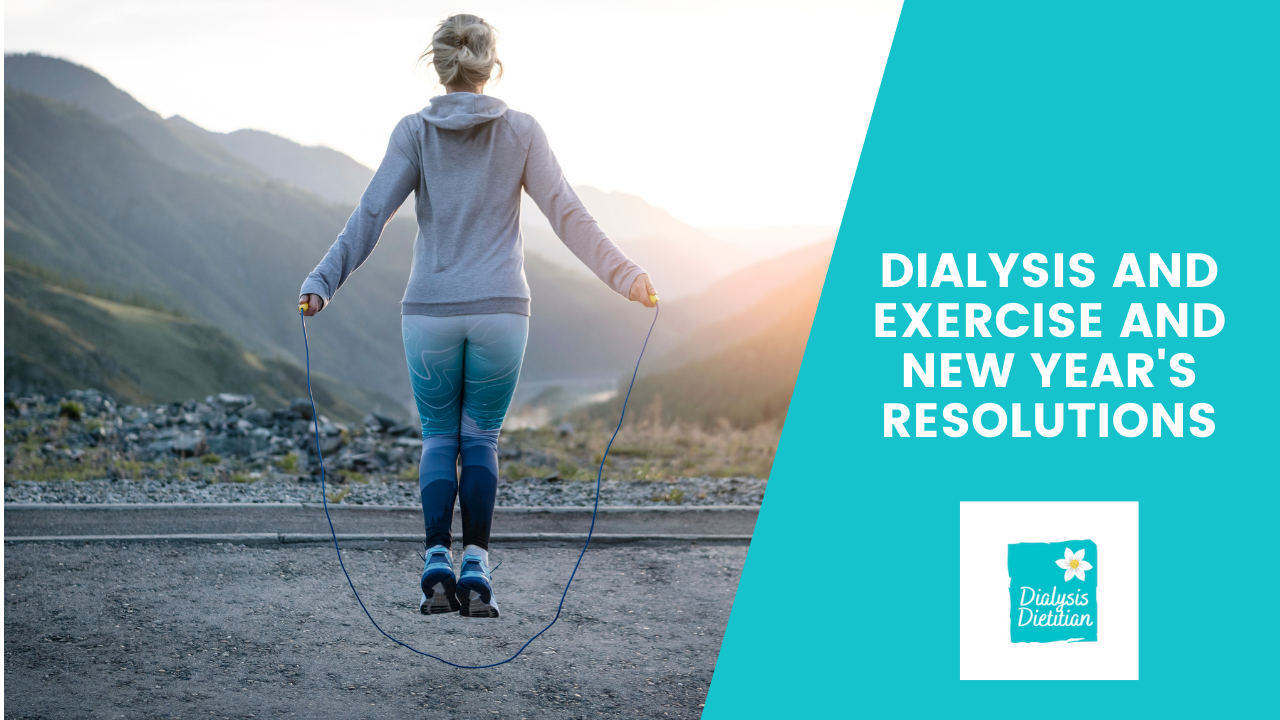 Dialysis and Exercise and New Year's Resolutions. Girl jumping rope looking at mountains.