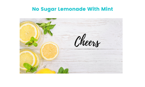 picture of lemons and mint. No Sugar Lemonade With Mint